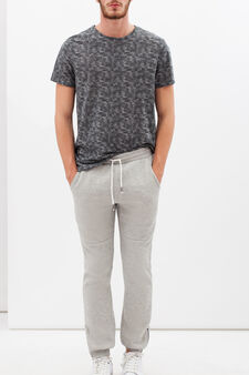Pantaloni in felpa di misto cotone, Grigio pietra, hi-res