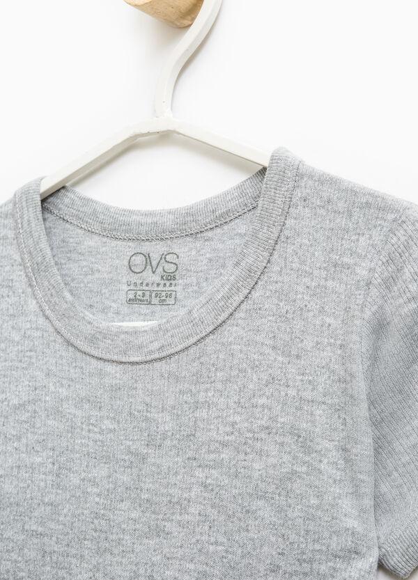 Camiseta interior de algodón en color liso | OVS