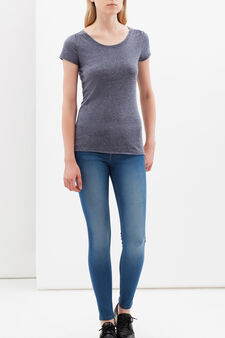 Skinny jeans with zips at ankles, Medium Wash, hi-res
