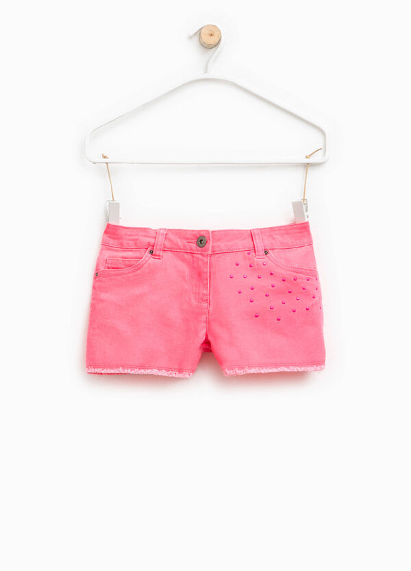 Shorts stretch con strass | OVS