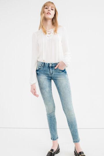 Jeans skinny fit stretch cuciture a tono, Lavaggio medio, hi-res