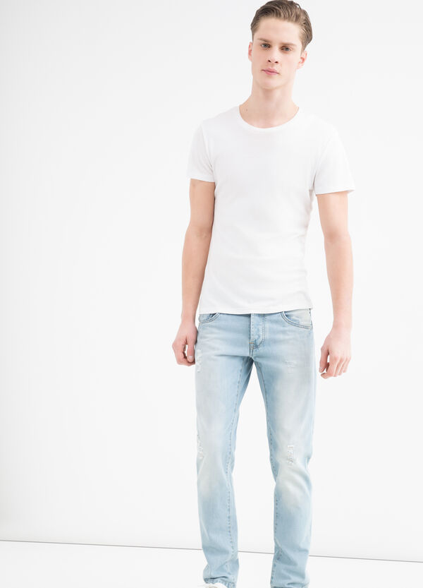 Slim fit jeans with button fastening | OVS
