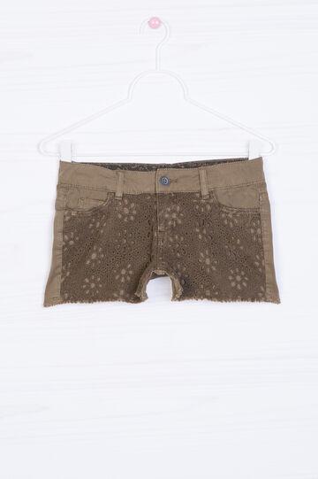 Shorts in puro cotone con inserto