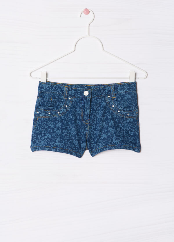 Shorts stretch con strass fantasia | OVS