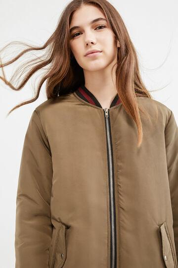 Ribbed bomber jacket, Green, hi-res
