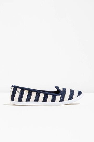 Striped pattern fabric slip-ons