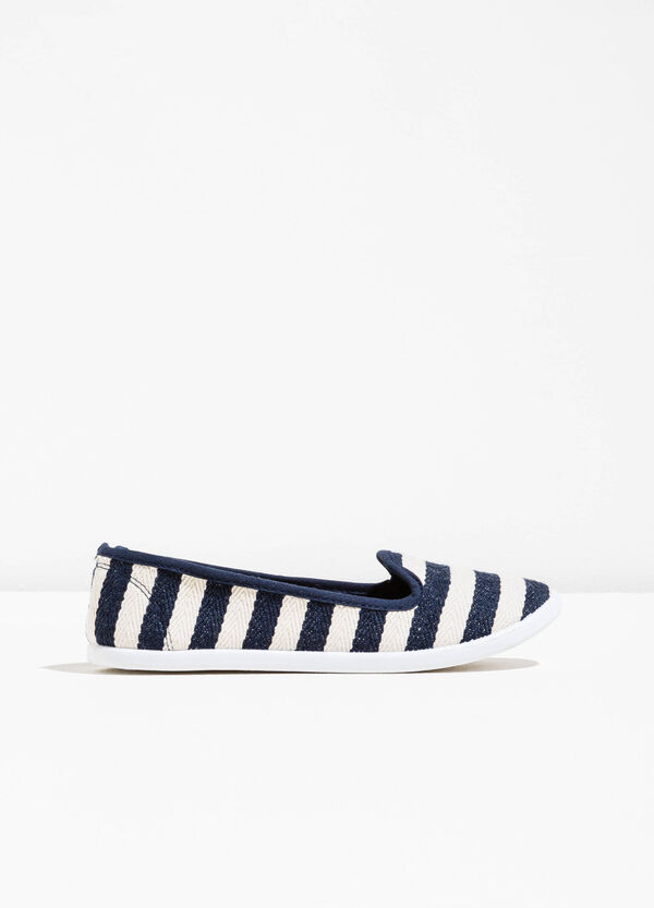 Striped pattern fabric slip-ons | OVS