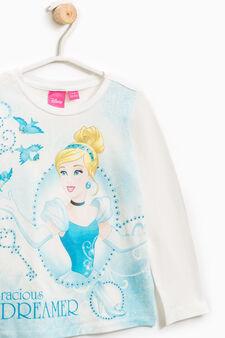 Maxi Cinderella print T-shirt, White, hi-res