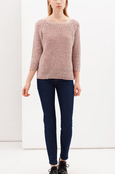 Pullover with boat neck, Multicolour, hi-res