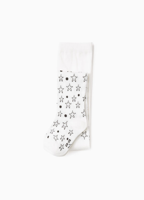 Star and polka dot patterned tights | OVS