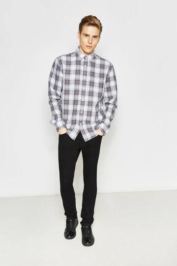 Casual tartan shirt with pocket