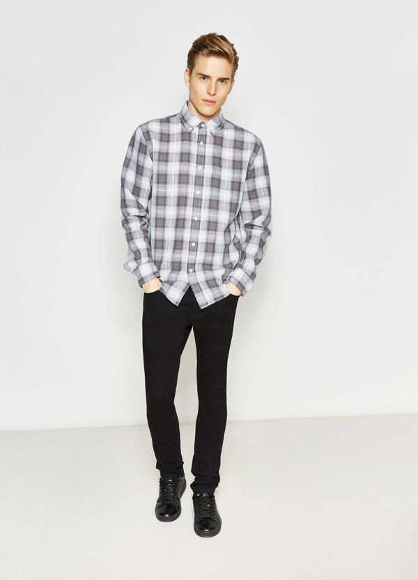 Casual tartan shirt with pocket | OVS