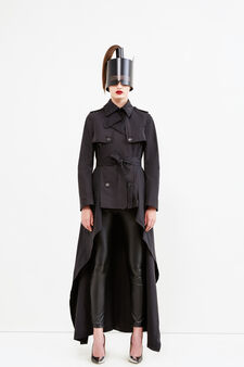 Trench Jean Paul Gaultier for OVS, Nero, hi-res