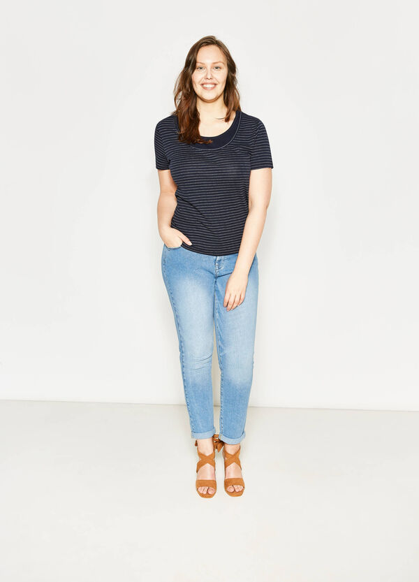 Curvy faded-effect relaxed-fit jeans | OVS