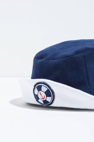 100% Biocotton fishing hat, White/Blue, hi-res