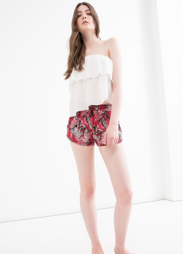 100% viscose patterned shorts | OVS