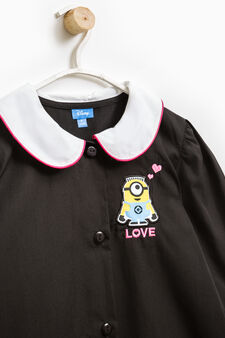 Smock with Minions patch and embroidery, Black, hi-res