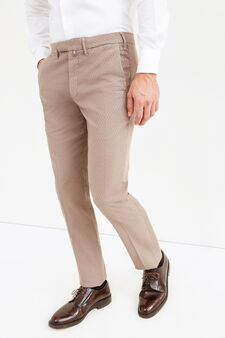 Rumford micro patterned trousers, Dove Grey, hi-res