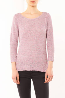 Cotton sweater, Pink, hi-res