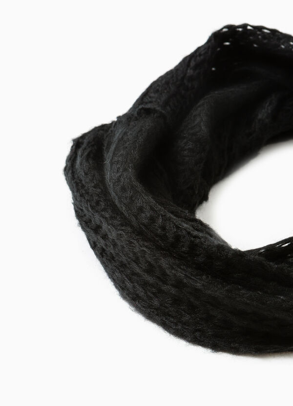 Solid colour knitted scarf | OVS