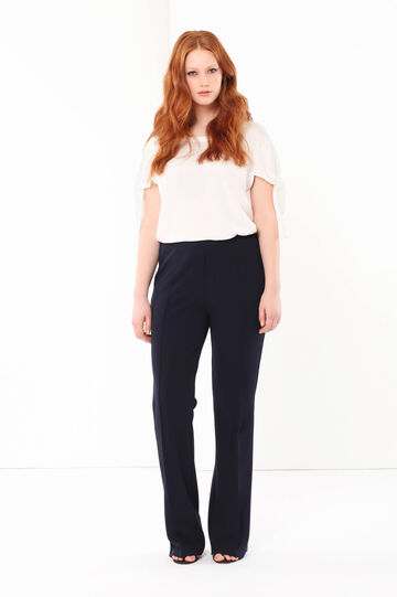 Curvyglam flared trousers, Navy Blue, hi-res