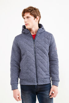 G&H mélange sweatshirt with diamond design, Soft Blue, hi-res