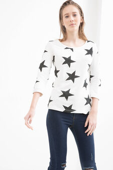 Printed sweatshirt in 100% cotton, Grey, hi-res