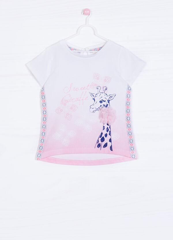 Printed cotton stretch T-shirt | OVS