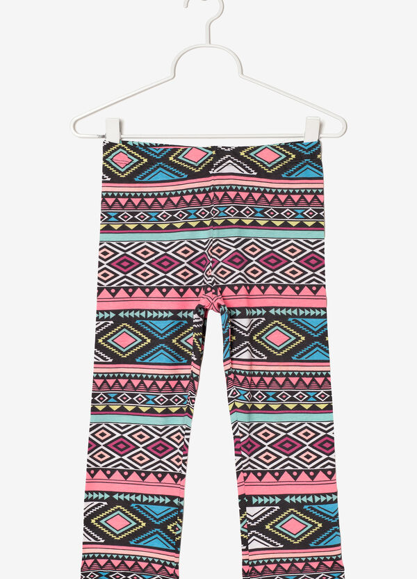 Geometric print leggings | OVS