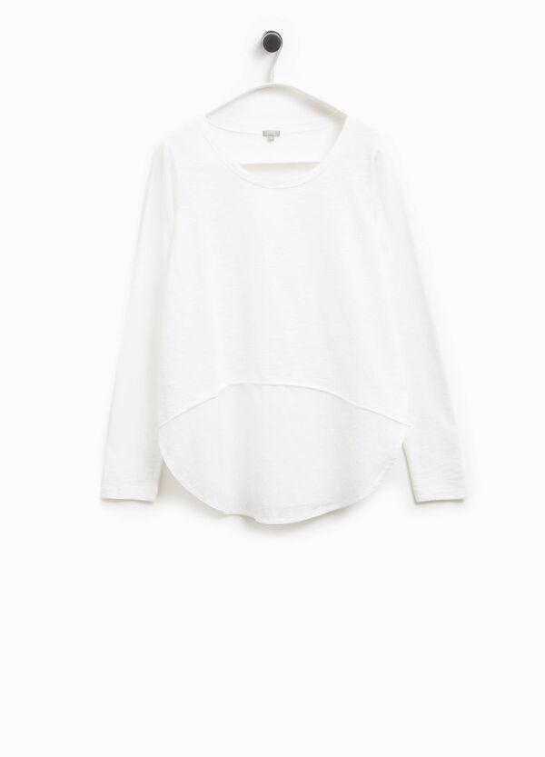 Camiseta con bajo asimétrico Smart Basic | OVS
