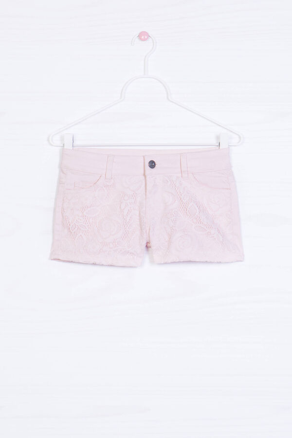 Cotton blend stretch shorts with insert | OVS