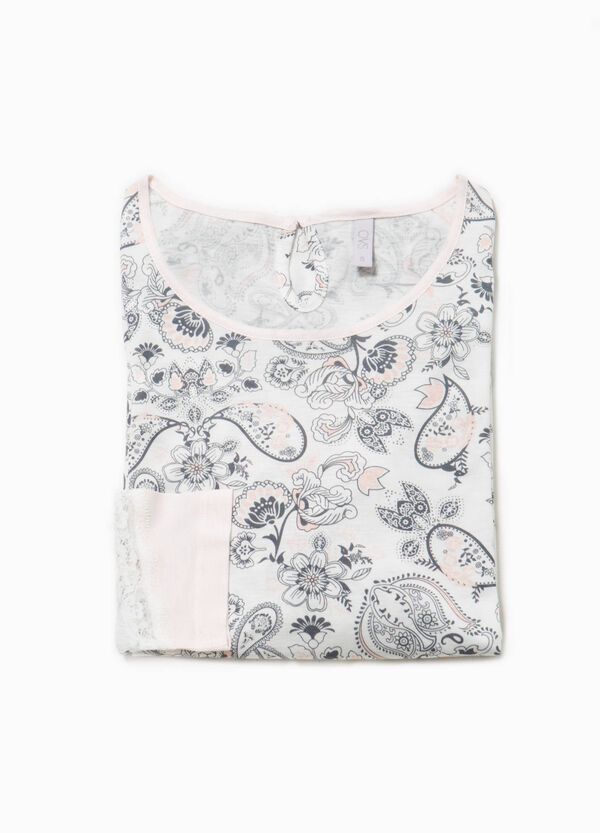 Pyjama top with all-over print | OVS
