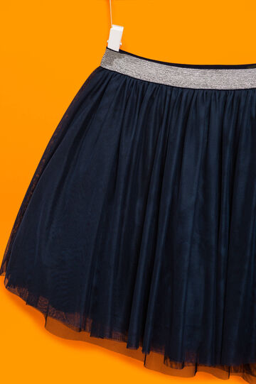 Lined tulle skirt, Blue, hi-res
