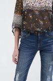 Jeans flare fit stretch, Blu scuro, hi-res
