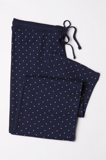 100% cotton printed pyjama trousers, Navy Blue, hi-res