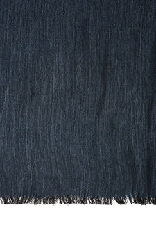 Sciarpa misto viscosa tinta unita, Azzurro, hi-res