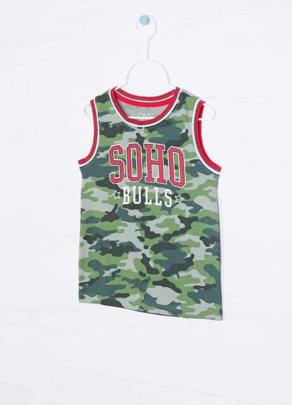 100% cotton vest top with front print | OVS