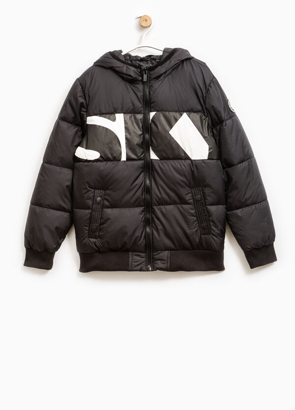 Down jacket with contrasting colour print | OVS
