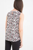 Animal patterned sleeveless blouse, Chalk White, hi-res