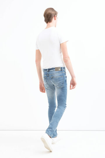 Used effect super skinny fit jeans