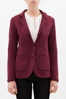 Raw hem jacket, Claret Red, hi-res
