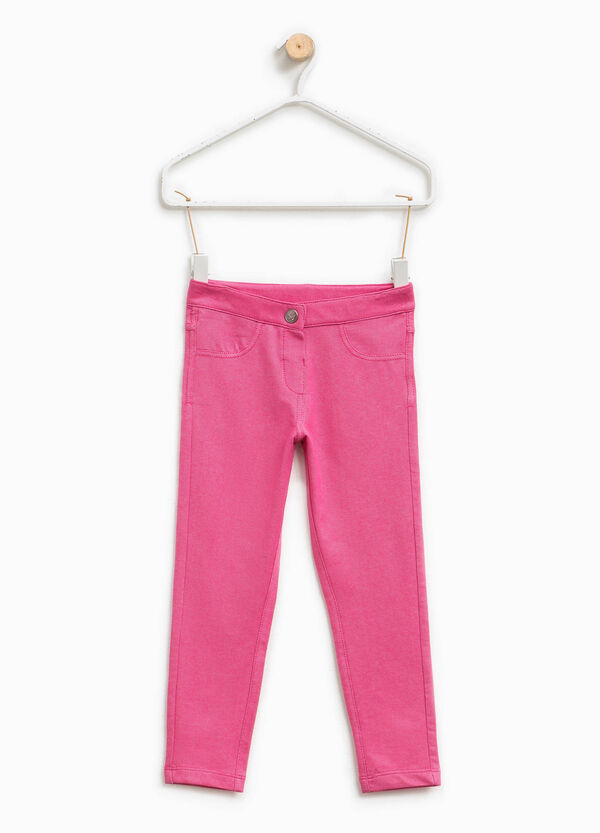Pantaloni in misto cotone stretch | OVS