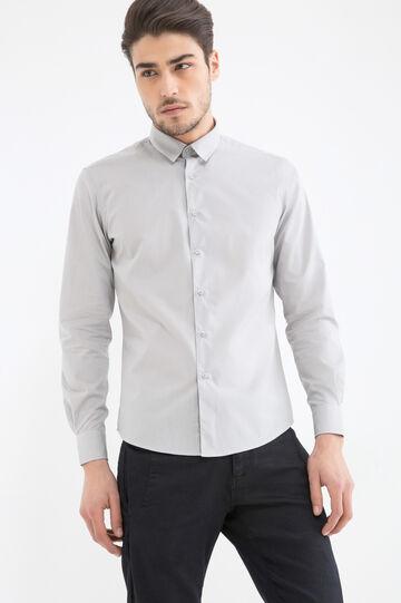 Camicia misto cotone slim fit