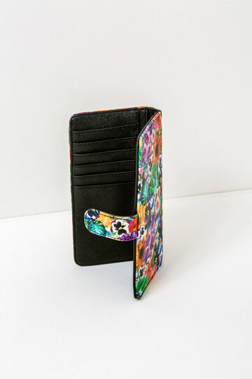 Wallet with floral pattern, Multicolour, hi-res