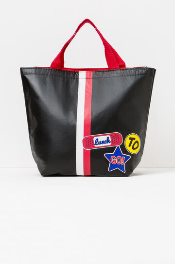 Lunch bag with zip, Black, hi-res