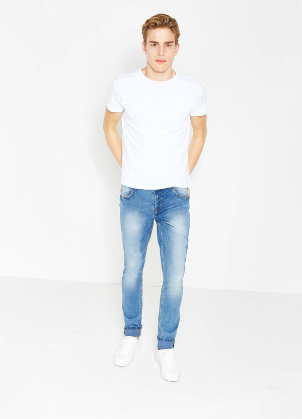 Jeans skinny fit stretch con bottoni | OVS
