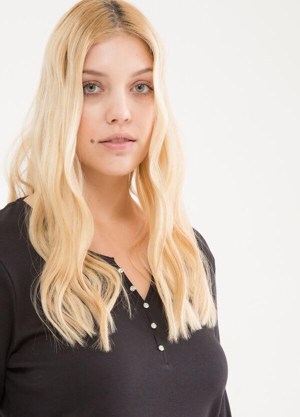 T-shirt puro cotone strass Curvy | OVS