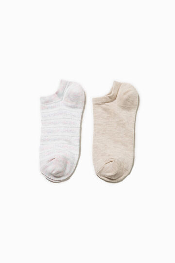 Two-pair pack socks with lurex and stripes