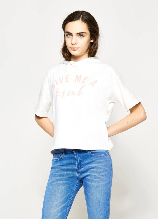 T-shirt stampata con cappuccio Teen | OVS