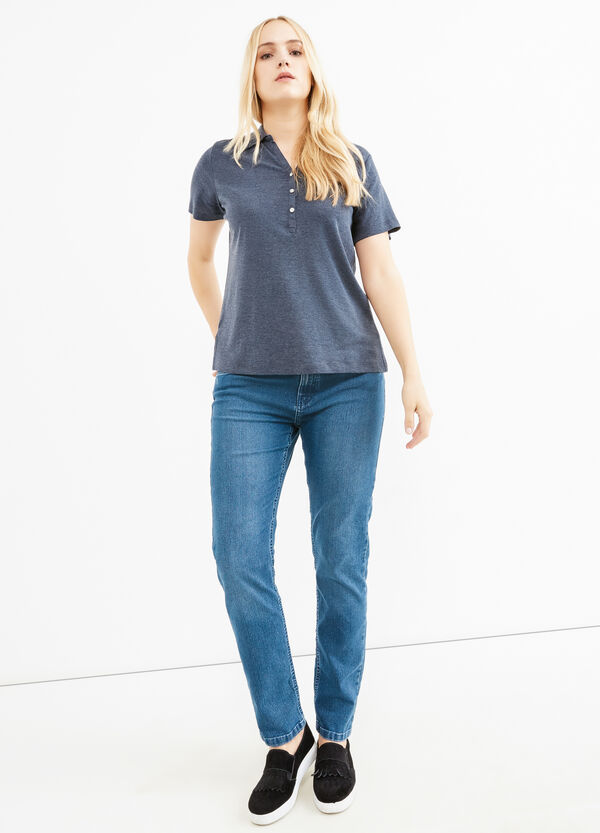 Curvy faded-effect stretch jeans | OVS